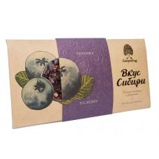 Шоколад темный Конфеты «Вкус Сибири» с черникой, 100г (Сибирский кедр)